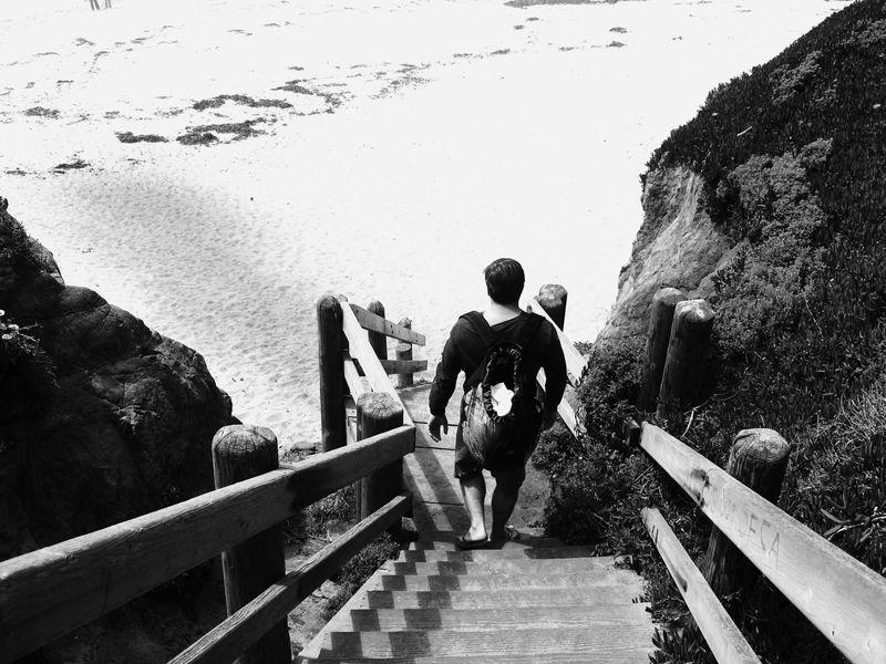 SG beach stairs