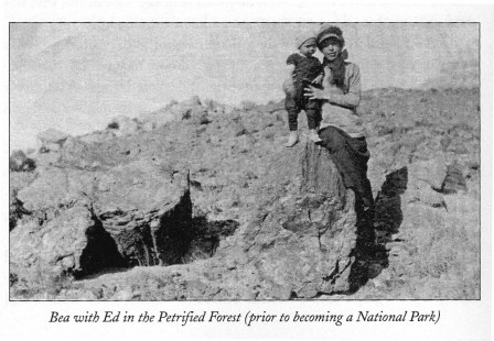 Bea with Ed in the Petrified Forest